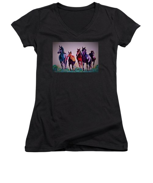 Colors In Wild Women's V-Neck (Athletic Fit)