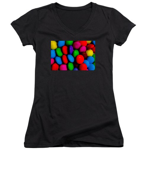 Colourful Abstract Women's V-Neck T-Shirt