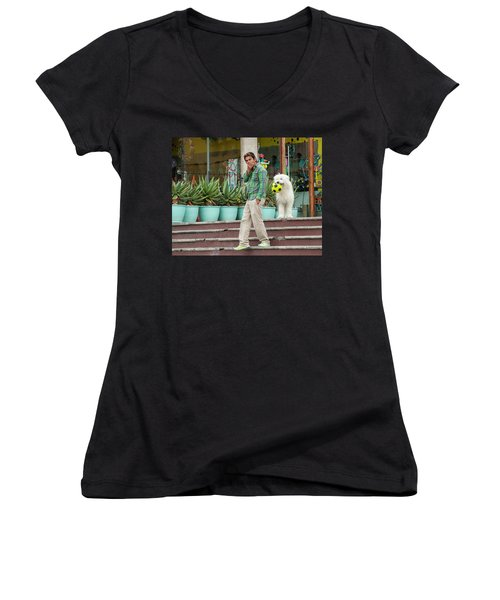 Come On And Play Women's V-Neck