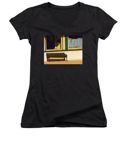 Come Sit A Spell Women's V-Neck T-Shirt (Junior Cut) by Sandy MacGowan