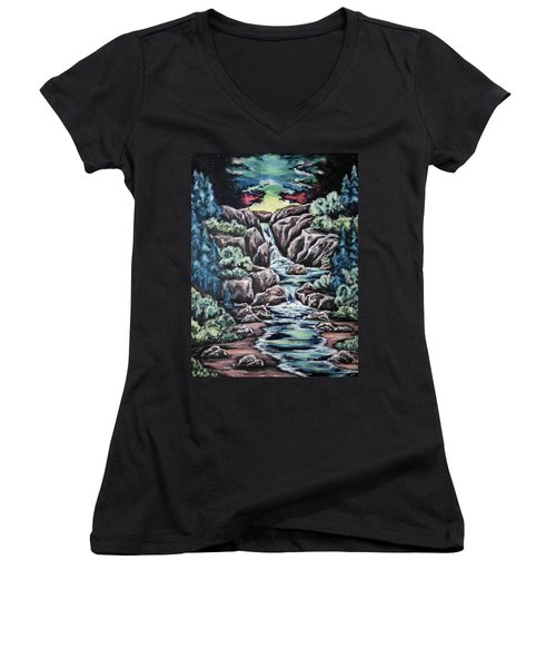 Come Walk With Me 2 Women's V-Neck T-Shirt
