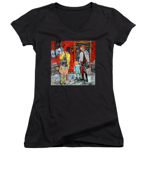 Coming For You Women's V-Neck T-Shirt (Junior Cut) by Sharon Furner