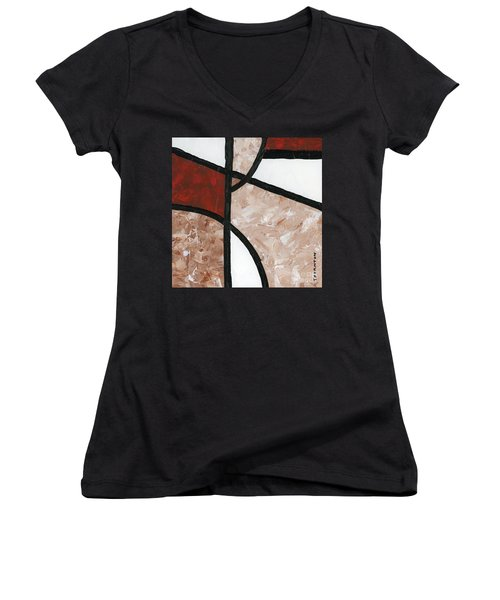 Compartments Panel 6 Women's V-Neck