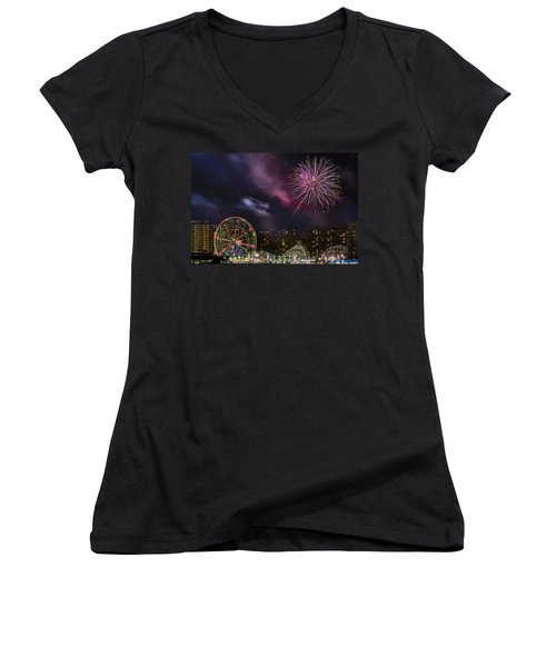 Coney Island Fireworks Women's V-Neck