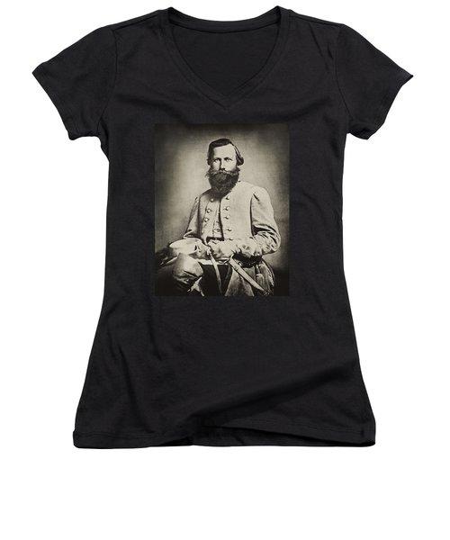 Confederate Jeb Stuart Women's V-Neck T-Shirt (Junior Cut) by Paul W Faust -  Impressions of Light