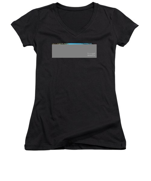 Women's V-Neck T-Shirt (Junior Cut) featuring the photograph Conley Road Winter  by Tom Jelen