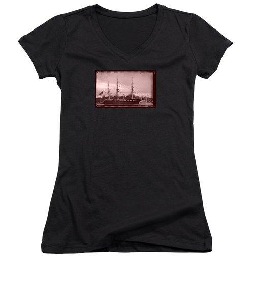Constellation Returns - Old Photo Look Women's V-Neck T-Shirt (Junior Cut) by William Bartholomew