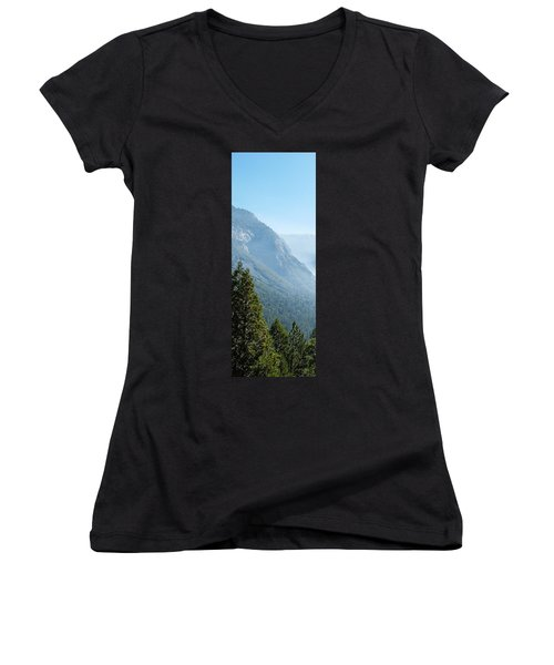 1 Of 4 Controlled Burn Of Yosemite Section Women's V-Neck