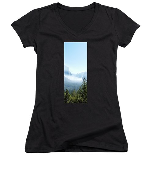 2 Of 4 Controlled Burn Of Yosemite Section Women's V-Neck