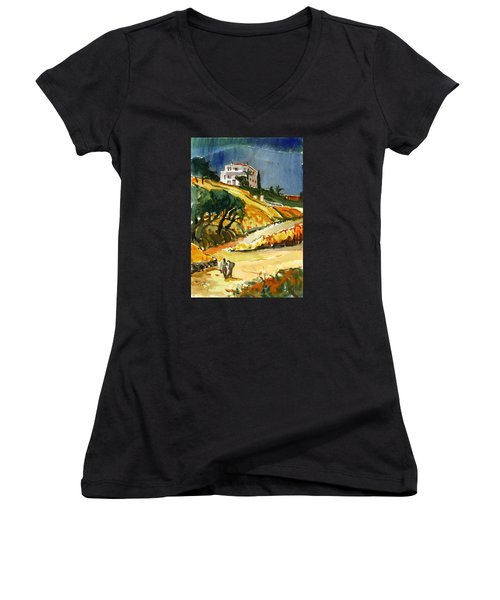Conversation In The Afternoon Women's V-Neck T-Shirt (Junior Cut)