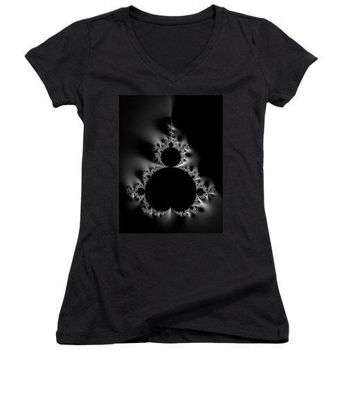 Cool Black And White Mandelbrot Set Women's V-Neck