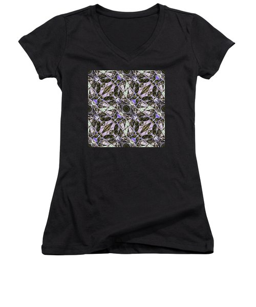 Women's V-Neck featuring the digital art Corporated by Andrew Kotlinski