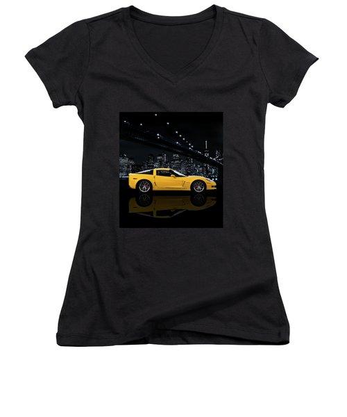 Corvette Z06 Gt1 Women's V-Neck
