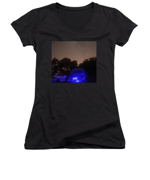 Cosmic Beetle 7 Women's V-Neck T-Shirt