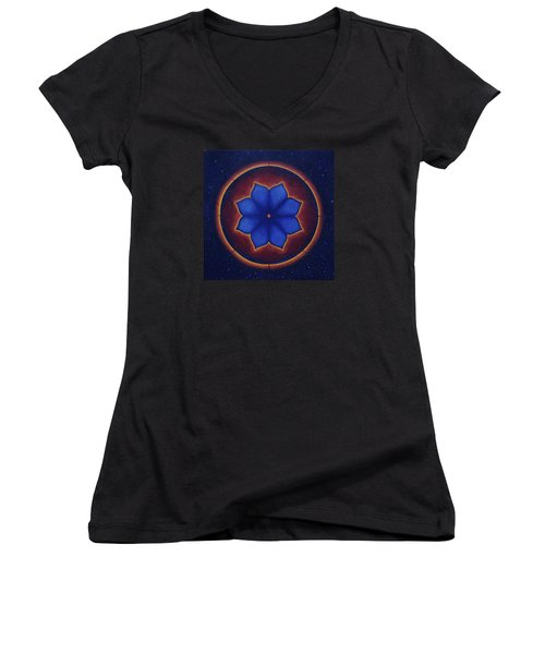 Cosmic Harmony Women's V-Neck T-Shirt