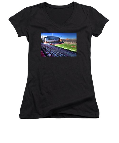 Cougar Football Complex At Martin Stadium Women's V-Neck