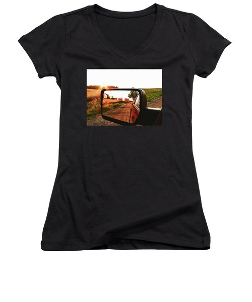 Country Boys Women's V-Neck T-Shirt (Junior Cut) by Pat Cook