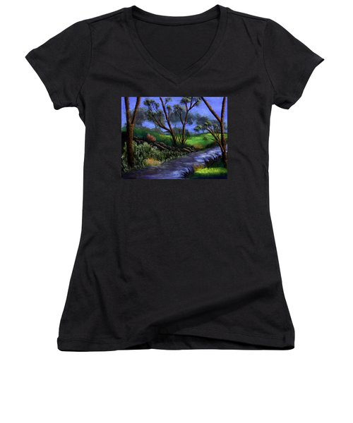 Country Club View Women's V-Neck T-Shirt