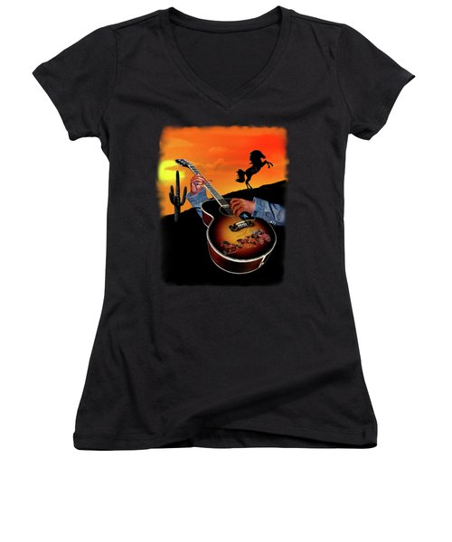 Country Music Women's V-Neck (Athletic Fit)