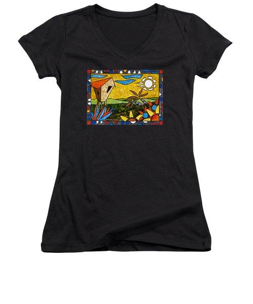 Country Peace Women's V-Neck T-Shirt (Junior Cut)