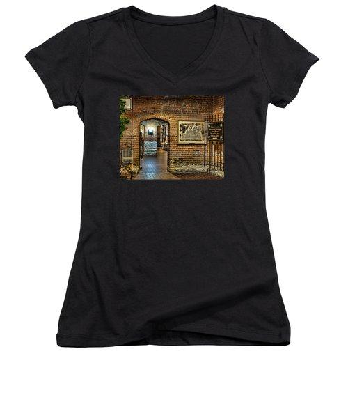 Courthouse Shops Women's V-Neck T-Shirt