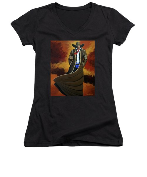 Cowboy Dust Women's V-Neck T-Shirt