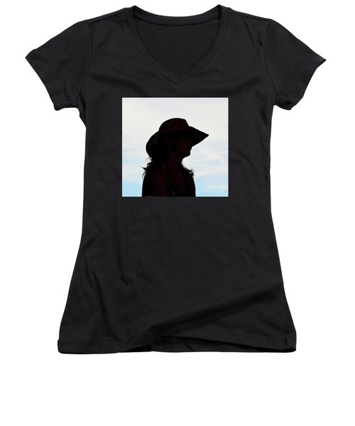 Cowgirl In The Sky Women's V-Neck