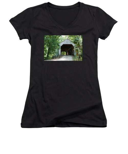 Cox Ford Bridge Women's V-Neck T-Shirt