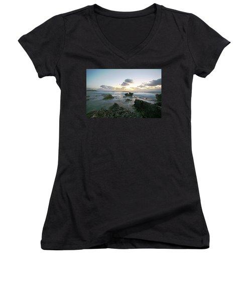Cozumel Sunrise Women's V-Neck T-Shirt