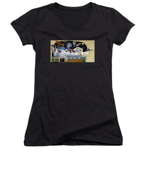 Cradle Of Aviation Museum Women's V-Neck (Athletic Fit)