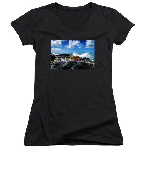 Crashing Waves Women's V-Neck T-Shirt