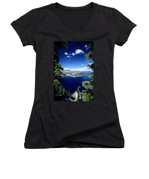 Crater Lake Women's V-Neck T-Shirt
