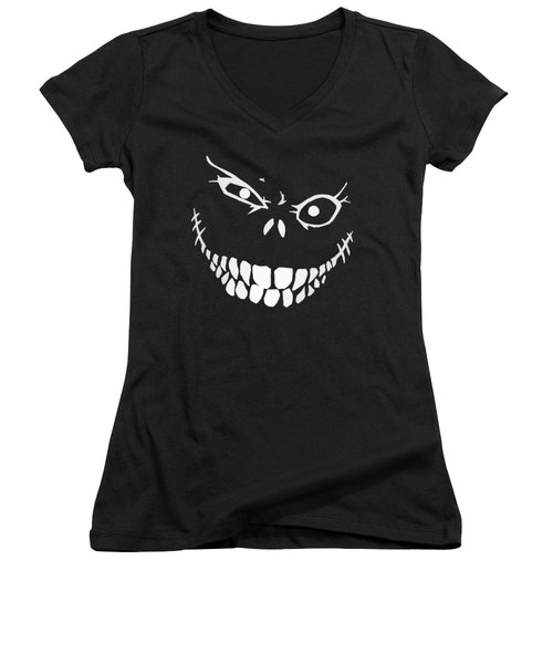 Crazy Monster Grin Women's V-Neck (Athletic Fit)