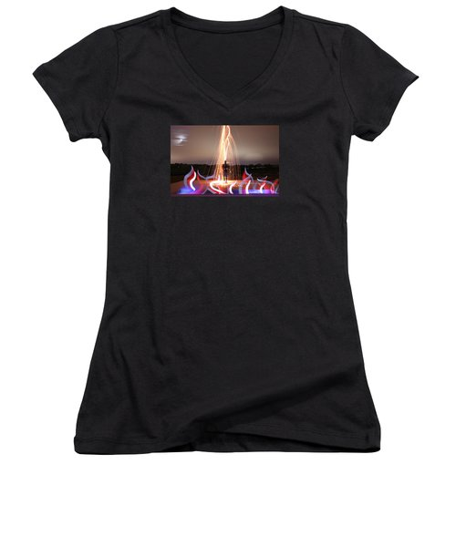 Create Your Dreams Women's V-Neck T-Shirt (Junior Cut) by Andrew Nourse