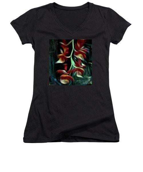 Crimson Flow Women's V-Neck T-Shirt