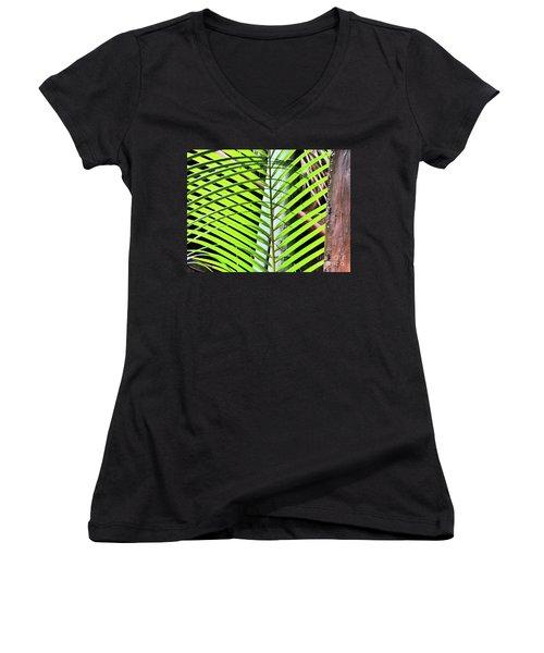 Crisscrossing Palms Women's V-Neck