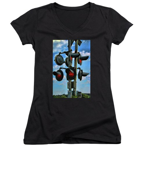 Crossed Signals Women's V-Neck (Athletic Fit)