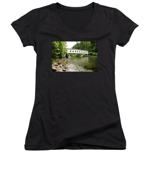 Crossing The Mckenzie River Women's V-Neck (Athletic Fit)