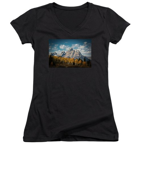 Crown For Tetons Women's V-Neck (Athletic Fit)