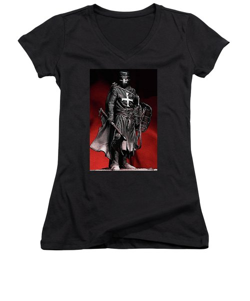 Crusader Warrior - Medieval Warfare Women's V-Neck