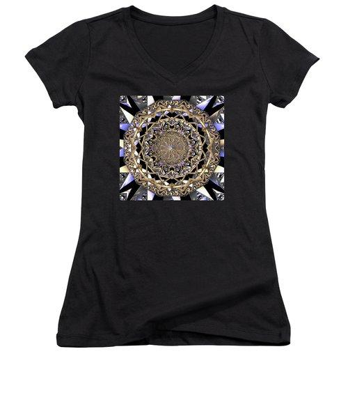 Women's V-Neck featuring the digital art Crystal Ahau  by Robert Thalmeier