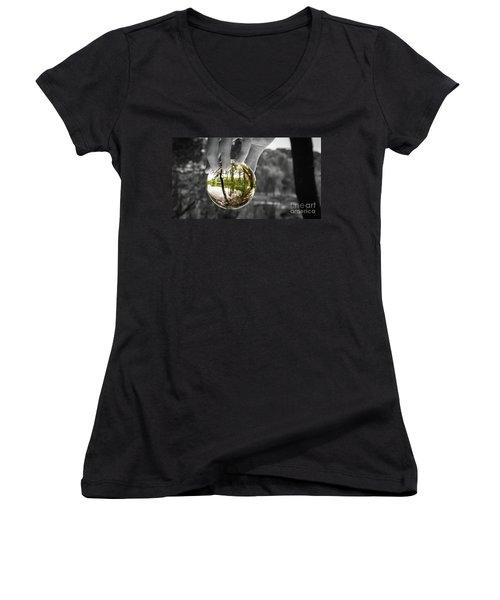 Crystal Enchantment Women's V-Neck T-Shirt (Junior Cut)