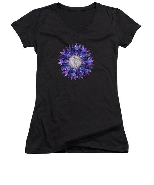 Crystal Magic Mandala Women's V-Neck T-Shirt
