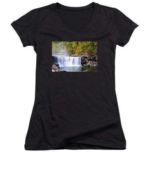 Cumberland Falls Women's V-Neck T-Shirt