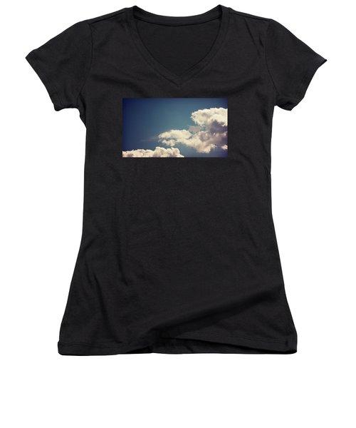 Cumulus Women's V-Neck T-Shirt (Junior Cut) by Joseph Westrupp
