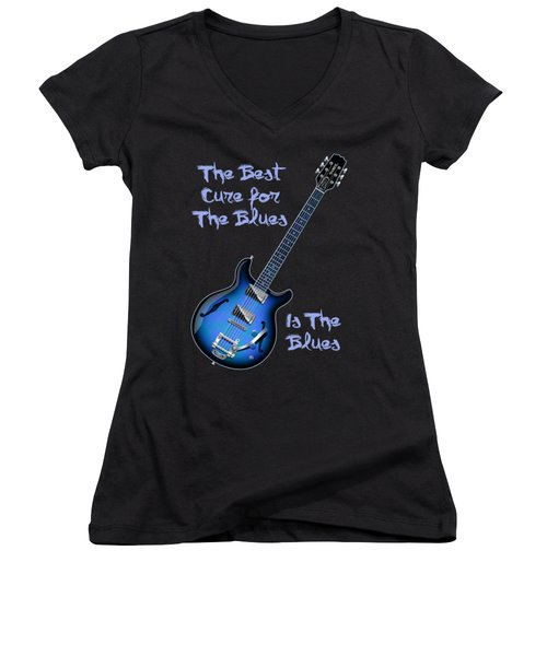 Cure For The Blues Shirt Women's V-Neck T-Shirt (Junior Cut) by WB Johnston