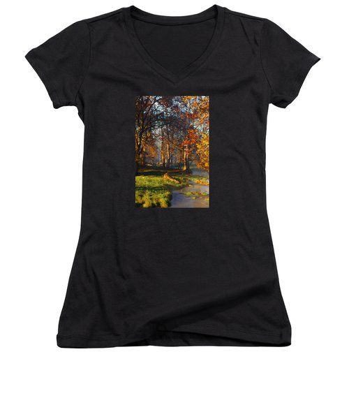Curry Stream Fall Women's V-Neck