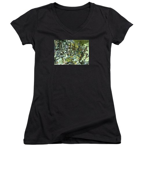 Cycles And Breaks Women's V-Neck T-Shirt