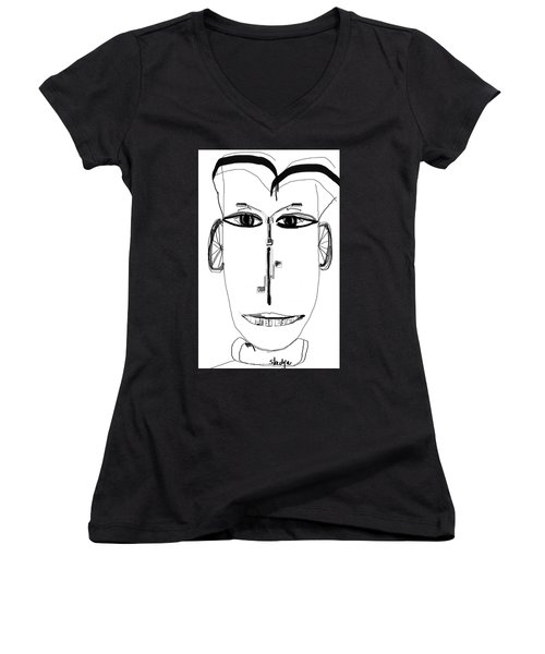 Cyclist Women's V-Neck T-Shirt (Junior Cut) by Sladjana Lazarevic