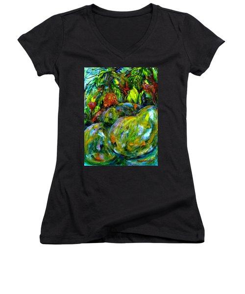 Cynometra Cauliflora Women's V-Neck (Athletic Fit)